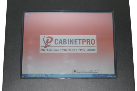 ABS full IP65 PC and touchscreen monitor enclosure