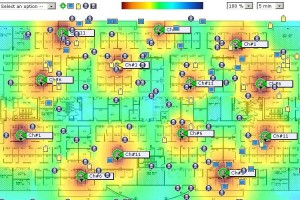Typical WiFi heatmap