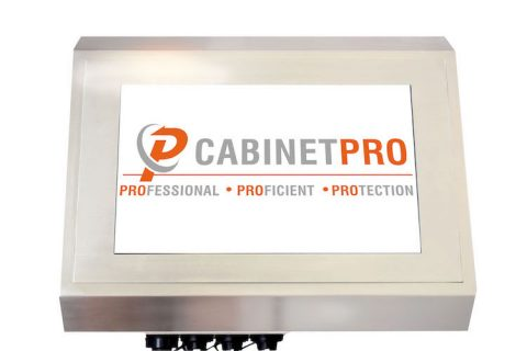 Cobalt stainless steel touchscreen from CabinetPro