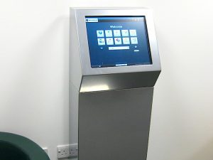 Custom silver information kiosk PC