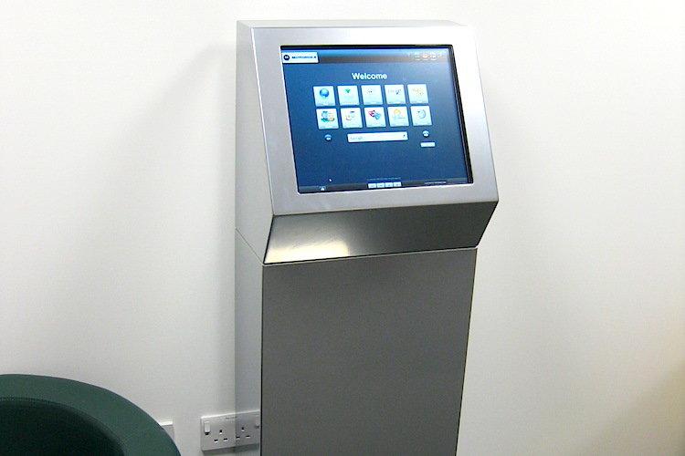 Custom Silver Kiosk PC