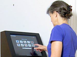 CabinetPro rugged kiosk in use